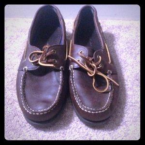 Men 9 Eddie Bauer Boat shoes